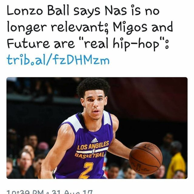 I REALLY hope this isnt true LonzoBall on hip hophellip